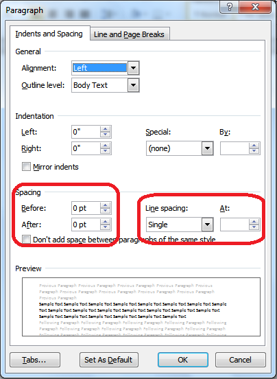 How to change line spacing within a cell in excel for Change the normal template in word 2010