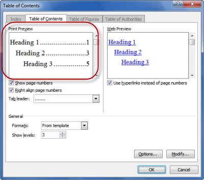 how to edit table of contents in word 2011 2