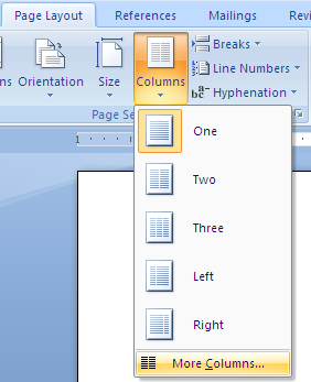 using and formatting columns in microsoft word legal office guru